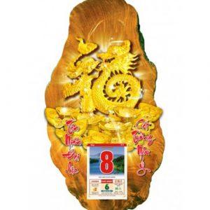 lịch gỗ 3D kim phước hoàng V2