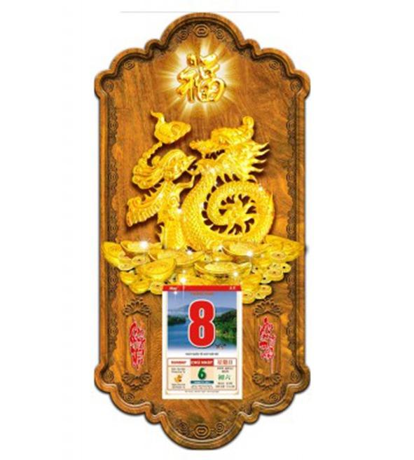 Lịch gỗ 3D Kim Phước Hoàng