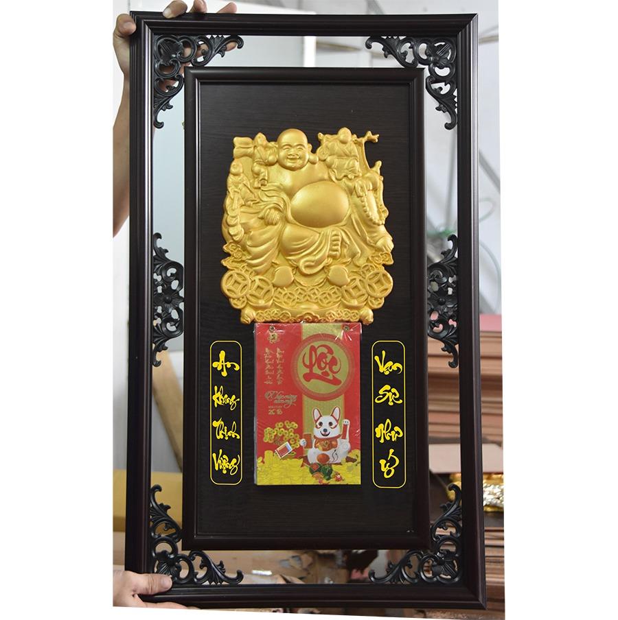 Lịch gỗ khung đôi 48×78 Cm – Di Lặc Tài Lộc