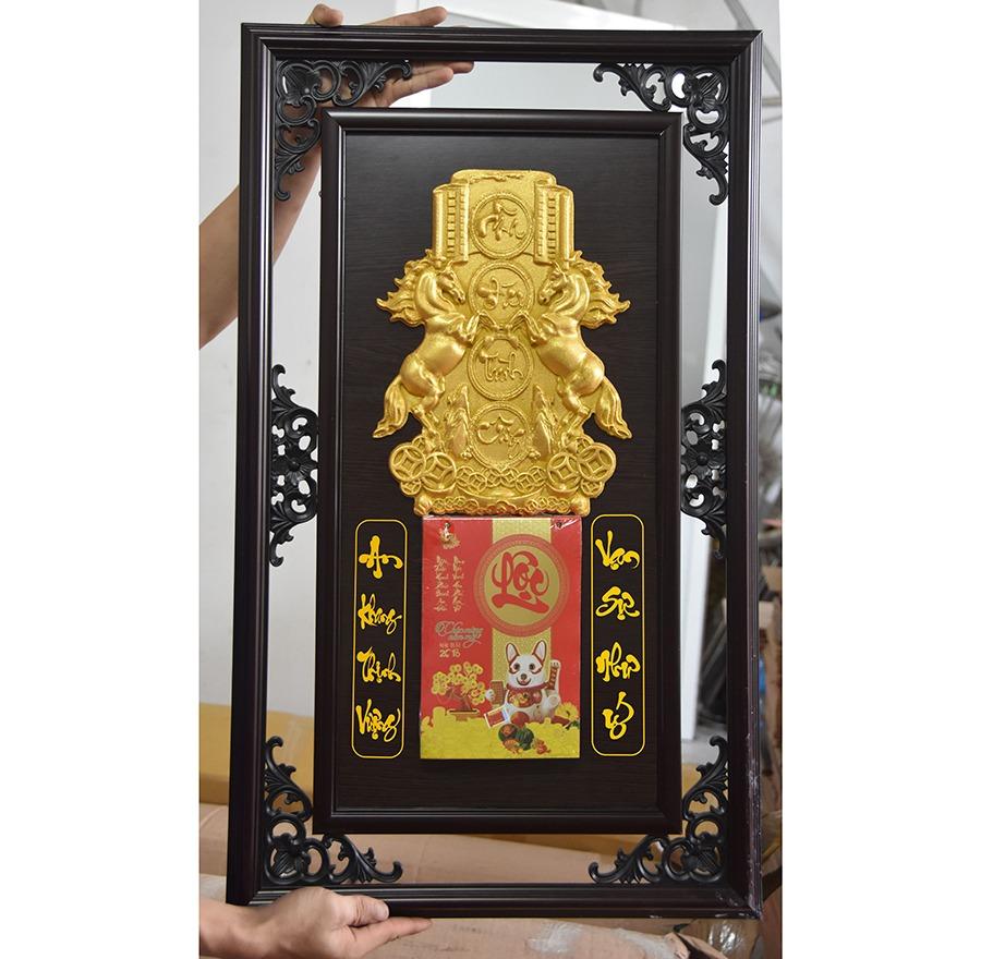 Lịch gỗ khung đôi 48×78 Cm – Mã Đáo Thành Công