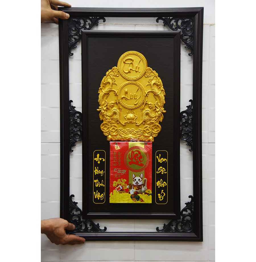 Lịch gỗ khung đôi 48×78 Cm – Phú Quý