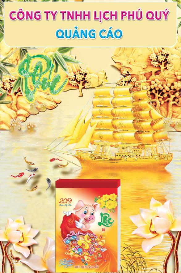 lịch gỗ lamina - thuận buồm xuôi gió